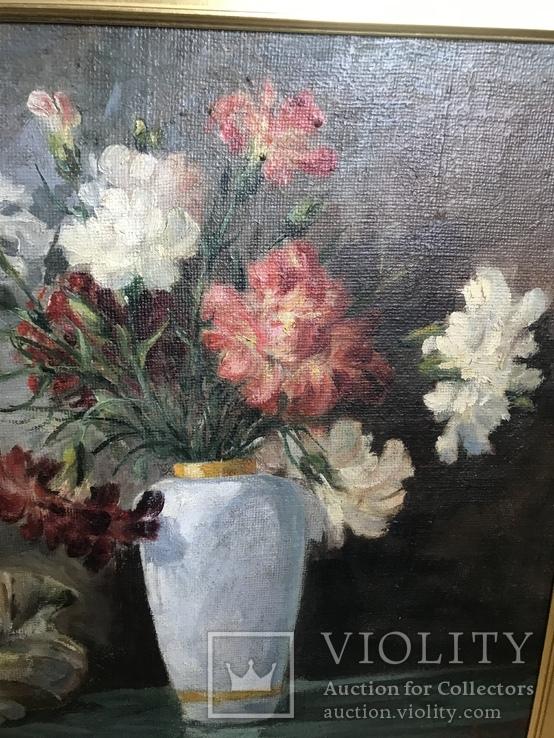 Картина маслом Натюрморт В. Крылов (50х50), фото №4