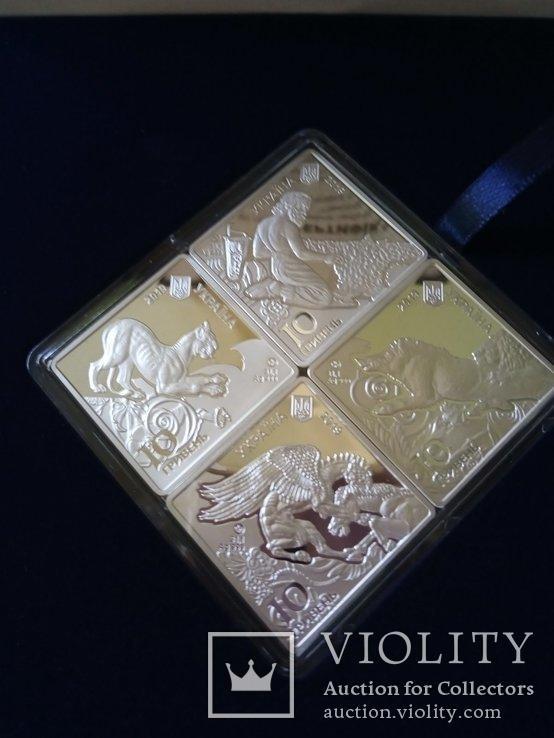Украина 10 гривен 2019 набор Пектораль серебро 40грн(2), фото №3
