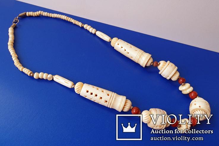 Резное ожерелье из кости., фото №2