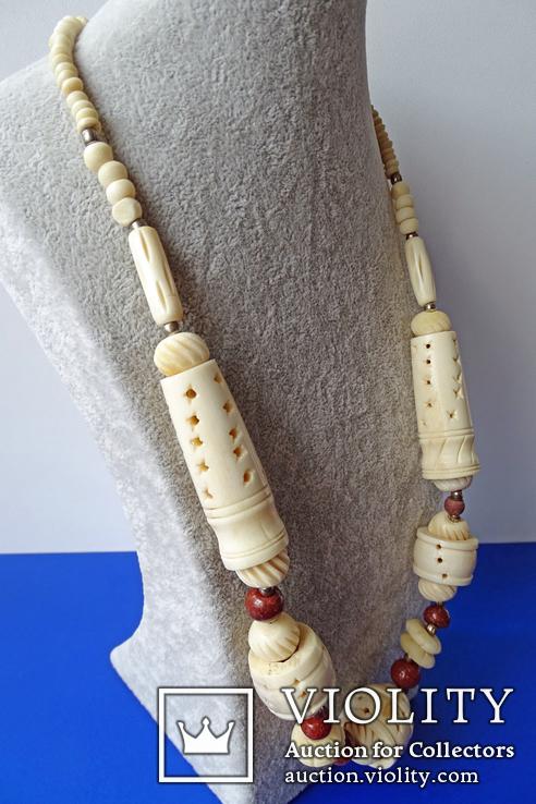 Резное ожерелье из кости., фото №4