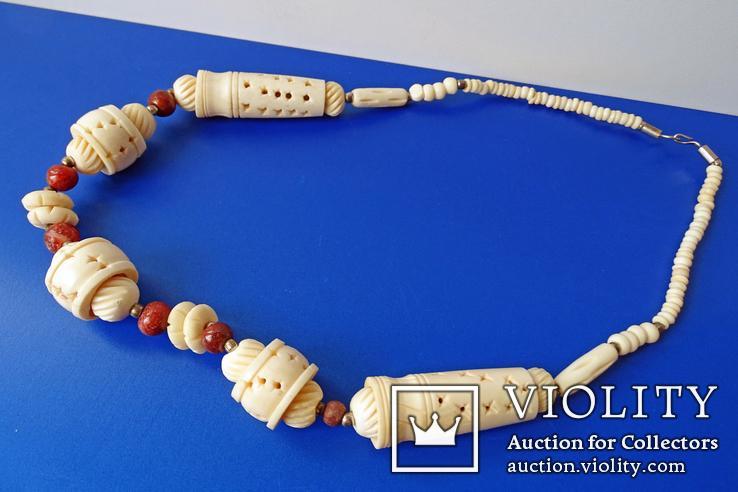 Резное ожерелье из кости., фото №7