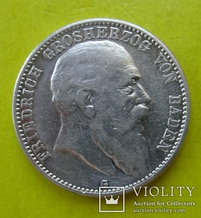 2 марки, Баден (Германия), 1904 год., фото №2