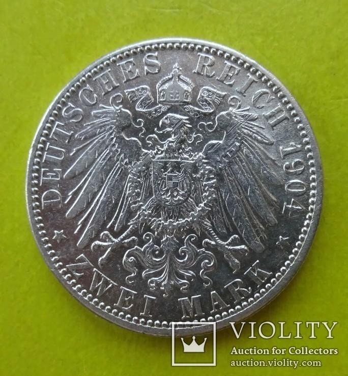 2 марки, Баден (Германия), 1904 год., фото №3