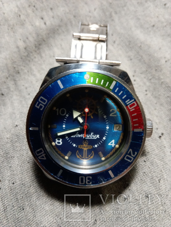 Часы Амфибия Восток.бочка.кастом.