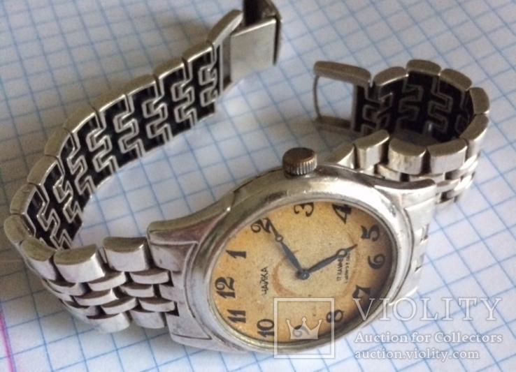 Серебряные часы с браслетом 68г