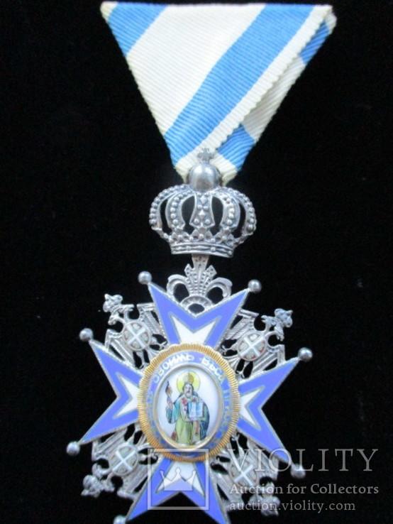Орден Святого Саввы V степени (оригинал в родной коробке)