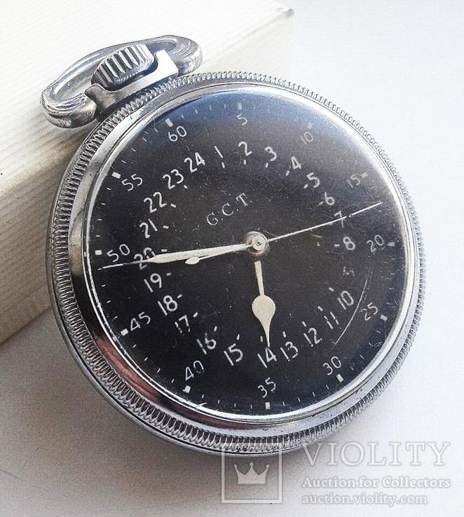 Навигационный военно-морской хронометр Hamilton G.C.T, с 24-часовой индикацией 1970 года