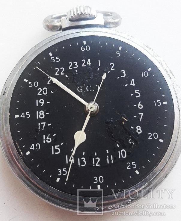 Навигационный военно-морской хронометр Hamilton G.C.T, с 24-часовой индикацией 1970 года, фото №5