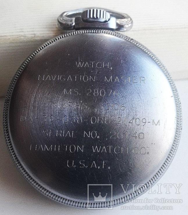 Навигационный военно-морской хронометр Hamilton G.C.T, с 24-часовой индикацией 1970 года, фото №7