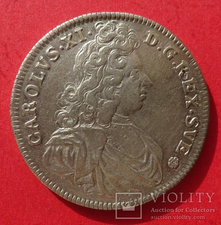 4 марки, 1692 год, Швеция.