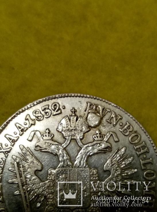 20крейцерів 1832р. А . Срібло Франциск 1, фото №6