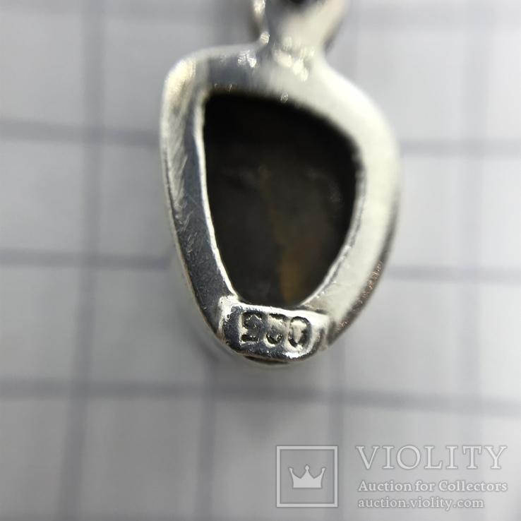 Подвески 3шт на цепочке серебро, фото №7