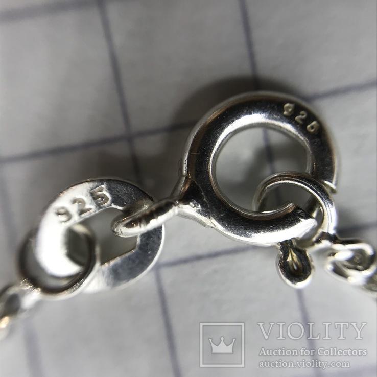 Подвески 3шт на цепочке серебро, фото №9
