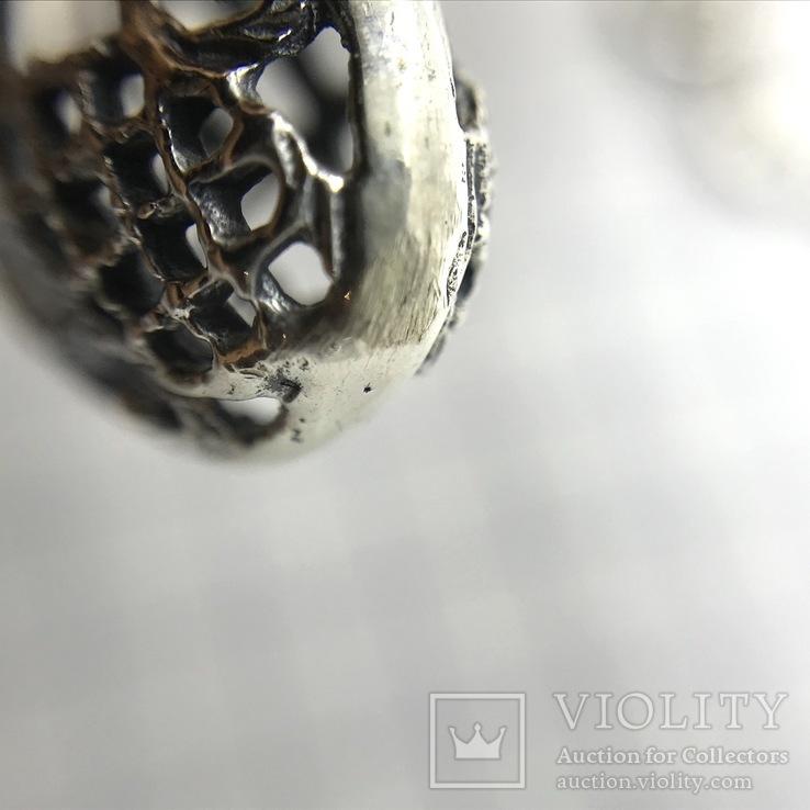 Подвески 3шт на цепочке серебро, фото №10