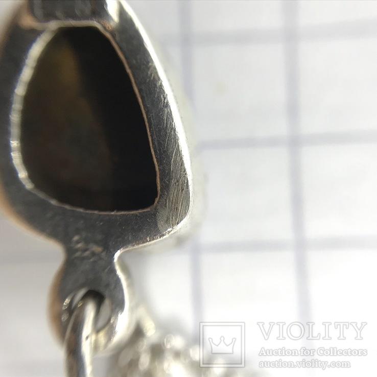 Подвески 3шт на цепочке серебро, фото №11
