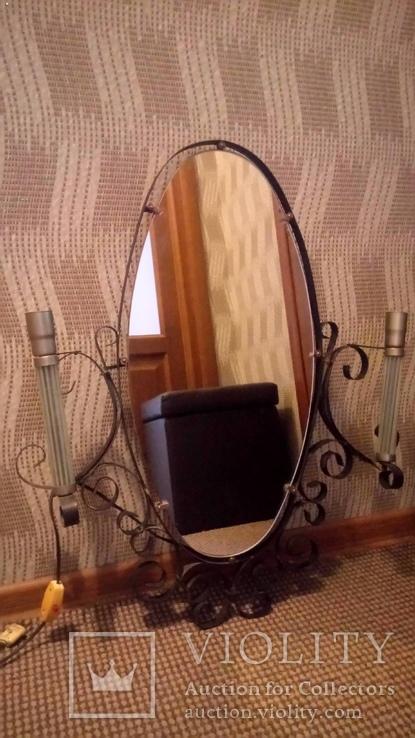Дзеркало металеве з підсвіткою часів СРСР. Друга половина 70-х років., фото №2
