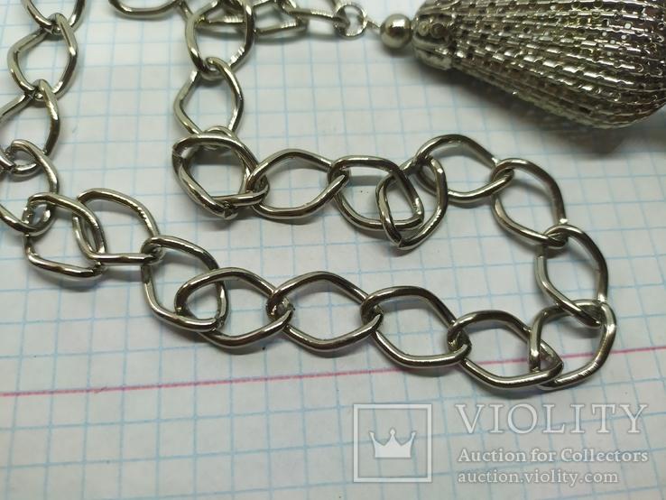 Пояс из цепочек с двумя кистями. Новый, фото №6