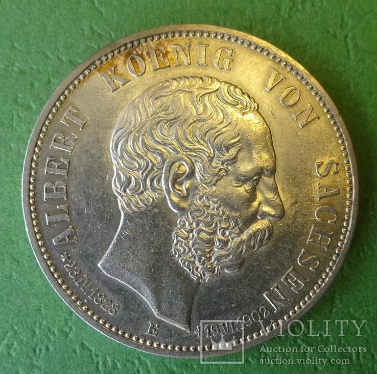 5 марок, 1902 год, Саксоня., фото №3
