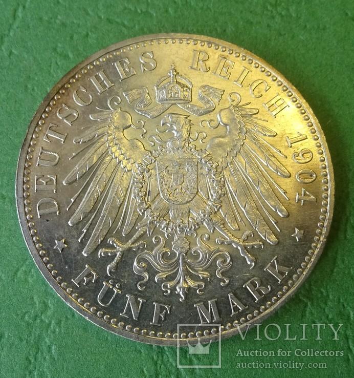 Гессен, 1904 год, 5 марок,, фото №3