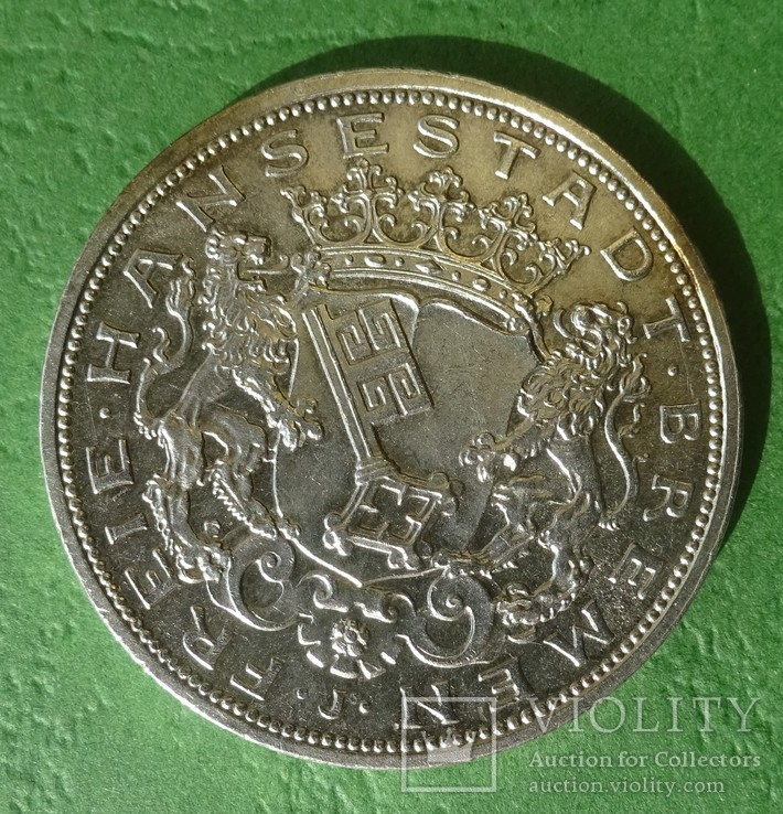 Бремен, 5 марок, 1906 год., фото №2
