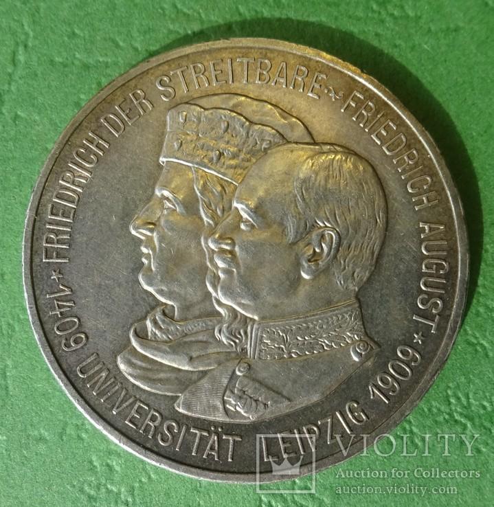 5 марок, 1909 год, Саксония., фото №2