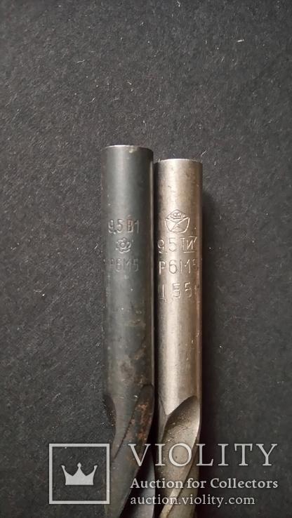Сверла советские диаметром 9,5 мм Два различных завода, фото №4