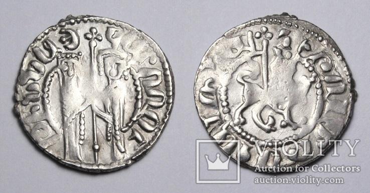 Кілікійська Вірменія, цар Хетум І та цариця Забел, срібний трам 1226-1270рр.