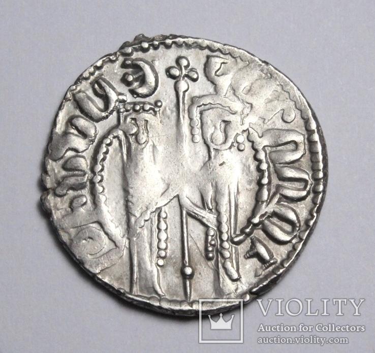 Кілікійська Вірменія, цар Хетум І та цариця Забел, срібний трам 1226-1270рр., фото №3