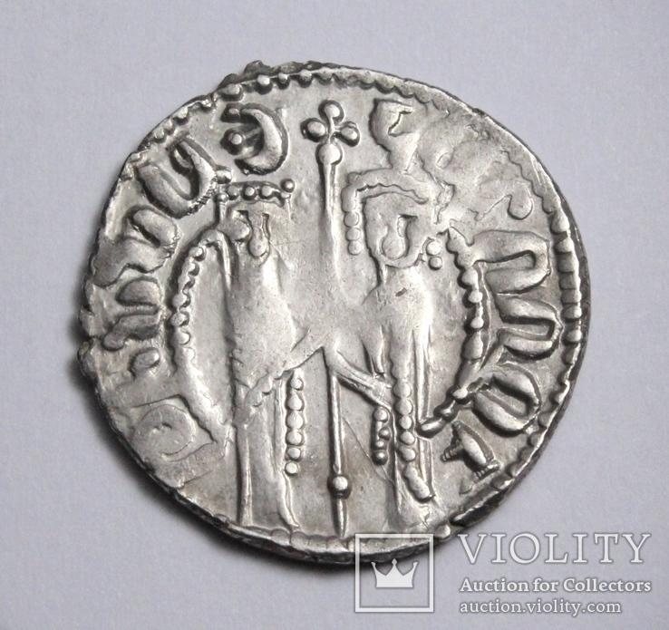 Кілікійська Вірменія, цар Хетум І та цариця Забел, срібний трам 1226-1270рр., фото №6