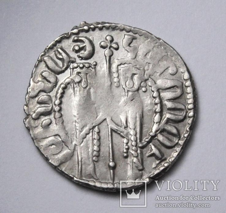 Кілікійська Вірменія, цар Хетум І та цариця Забел, срібний трам 1226-1270рр., фото №8