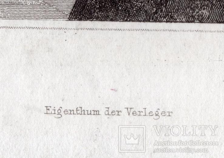 Старинная гравюра. XIX век. (25х17,8см.), фото №6
