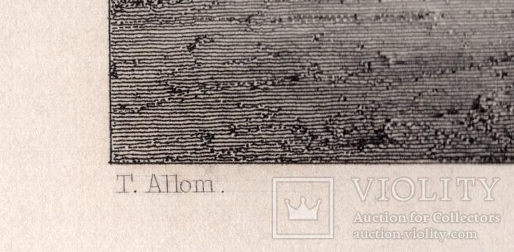 Старинная гравюра. XIX век. (27,2х20,3см.), фото №4