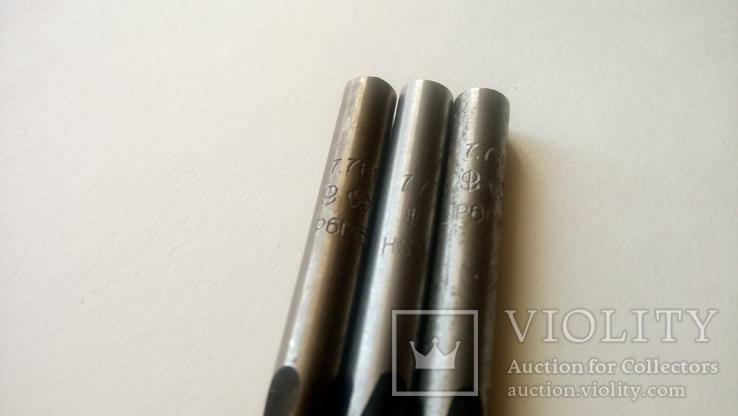 Сверло советское диаметр 7,7 мм Три штуки СССР, фото №4