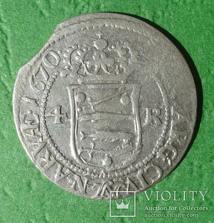 4 оре, 1670 год, Вольный город Нарва,, фото №2