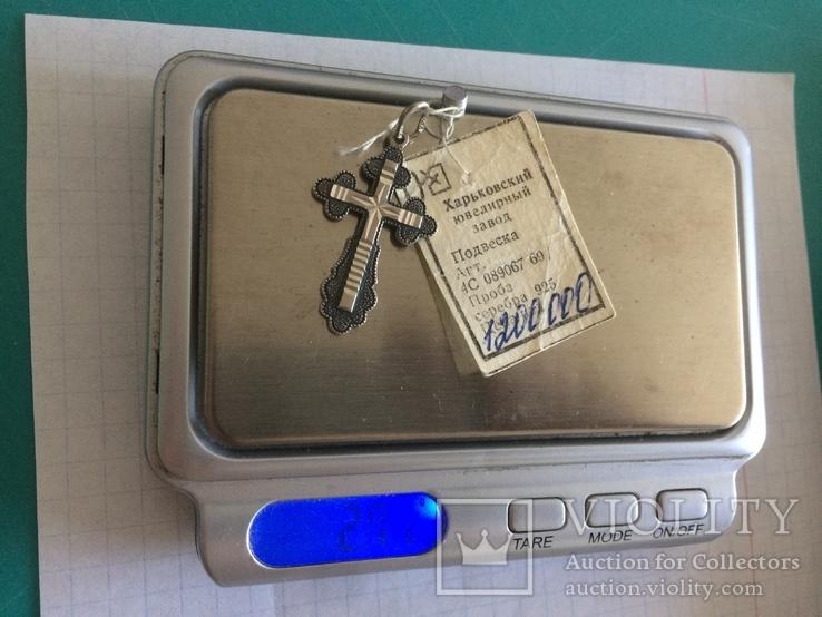 Крест Серебро 925 Новый с биркой Харьковский завод, фото №5