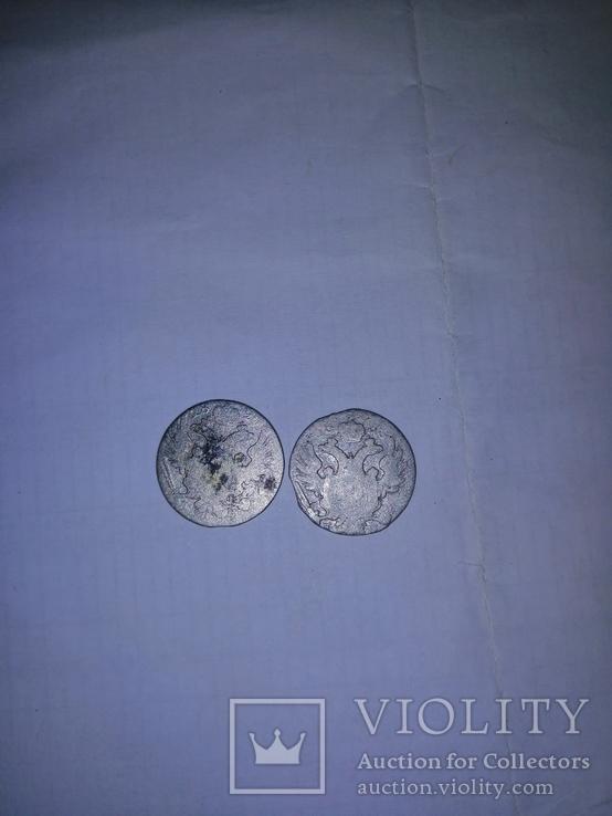 10 грош злотих 2 штуки 1820р и 1830р, фото №2
