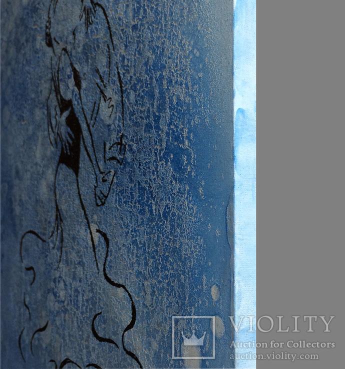 Картина, Танго під дощем, 35х35 см. Живопис на полотні, фото №5