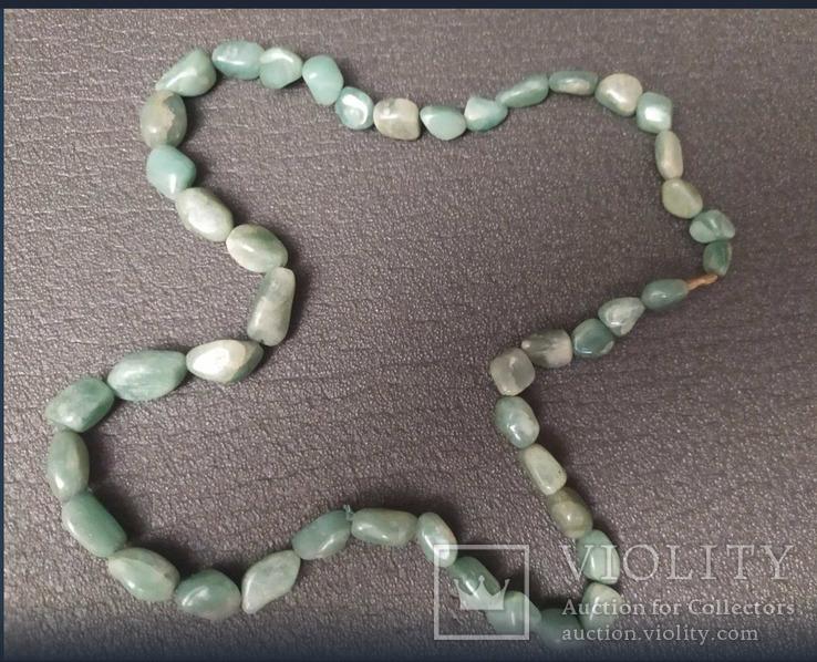 Ожерелье из салатового камня, фото №3