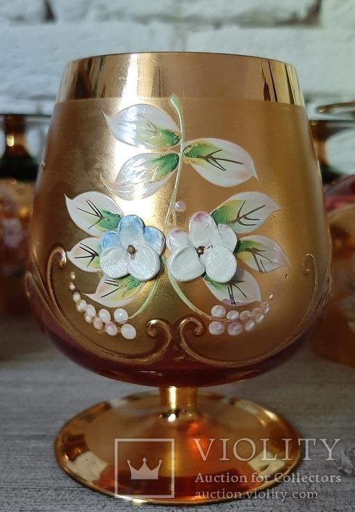 Фужеры цветное стекло, Bohemiа,70-е. 6 штук, фото №10
