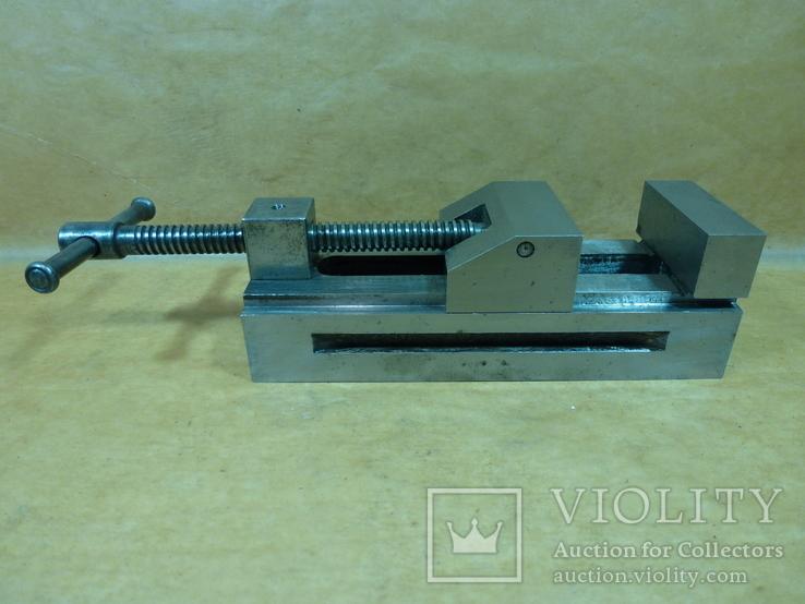 Тиски лекальные 60 мм. станок фрезерный шлифовальный инструмент, фото №3