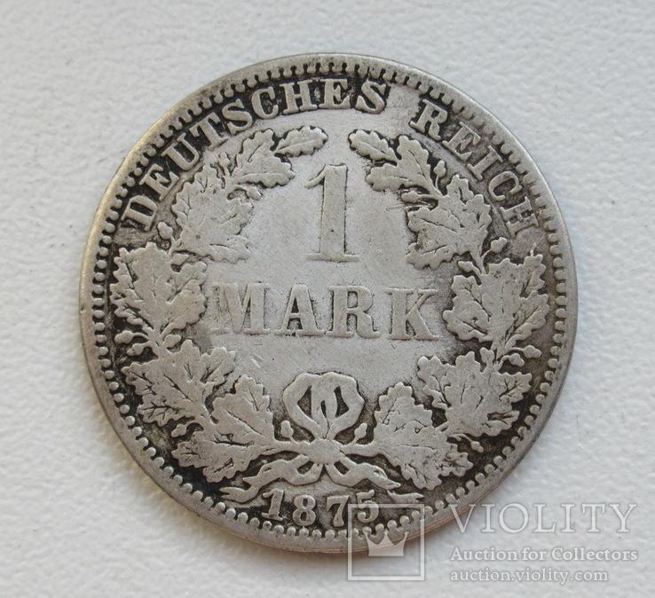 1 марка 1875 г. (А), Германия, серебро, фото №4