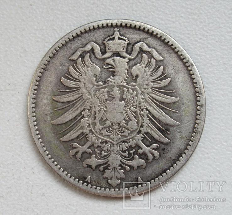 1 марка 1875 г. (А), Германия, серебро, фото №6