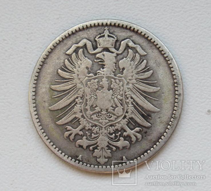 1 марка 1875 г. (А), Германия, серебро, фото №7