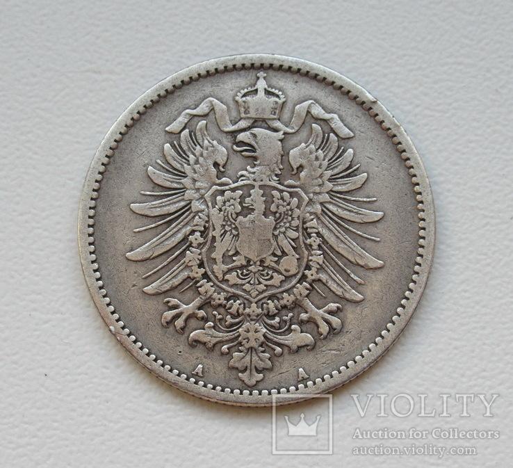 1 марка 1885 г. (А), Германия, серебро, фото №4