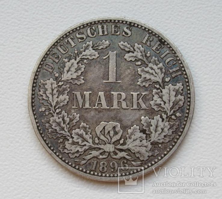 1 марка 1896 г. (А), Германия, серебро, фото №2