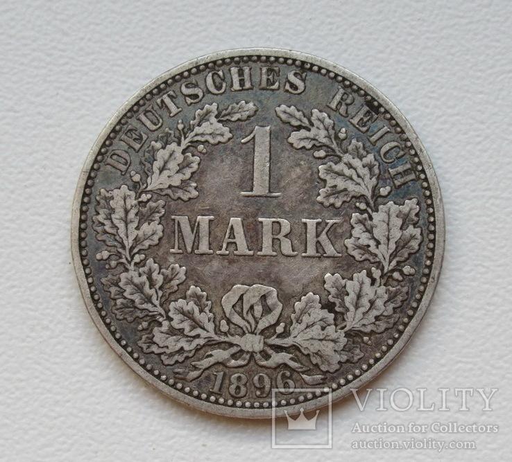 1 марка 1896 г. (А), Германия, серебро, фото №3