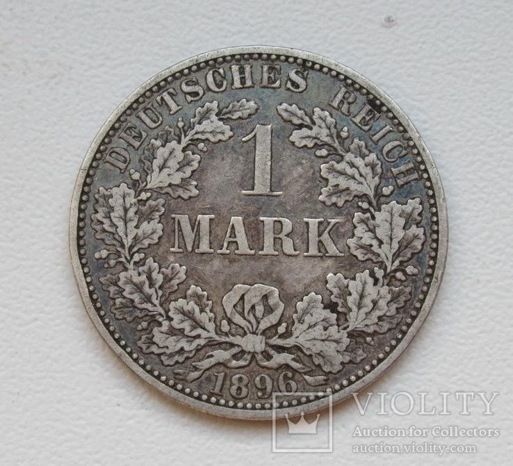 1 марка 1896 г. (А), Германия, серебро, фото №4