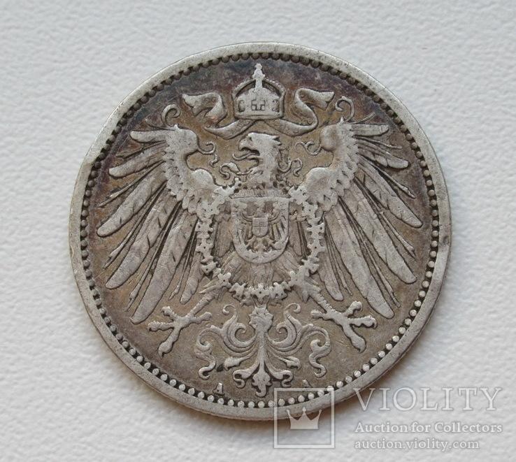 1 марка 1896 г. (А), Германия, серебро, фото №5