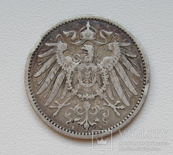 1 марка 1896 г. (А), Германия, серебро, фото №6