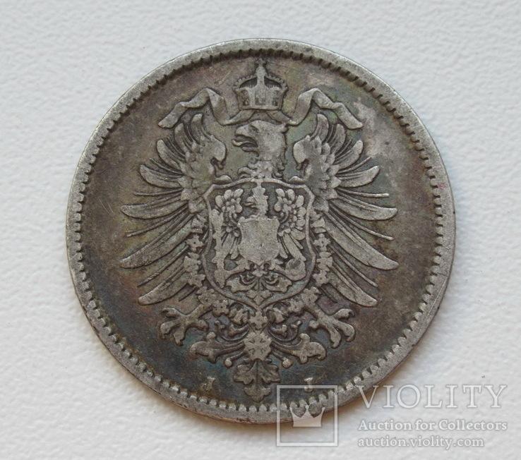 1 марка 1876 г. (J), Германия, серебро, фото №9